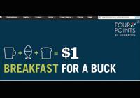 Desayuno por un dólar en Four Points by Sheraton