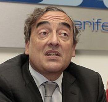 Juan Rossell, presidente de la CEOE, en Tenerife
