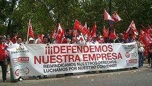 Los sindicatos se han manifesado frente a Paradores