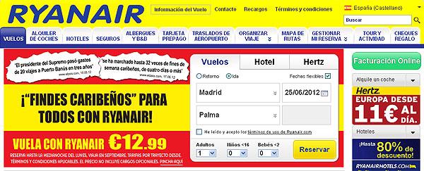 Ryanair 'utiliza' a Carlos Dívar en su nueva campaña de publicidad.