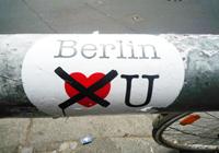 Pegatina 'Berlin no te quiere'