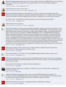 Captura de pantalla del muro de Helitt en Facebook