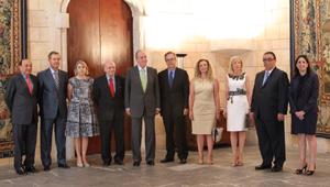 Reunión del Rey con los hoteleros en Mallorca, agosto de 2012