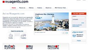 Web de Riuagents.com, Riu Hotels & Resorts