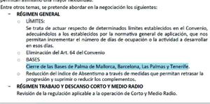 Extracto del plan de reestructuración para los TCP de Iberia