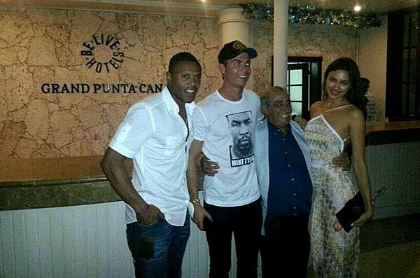 Hidalgo, cicerone de Ronaldo e Irina Shayk en Punta Cana.
