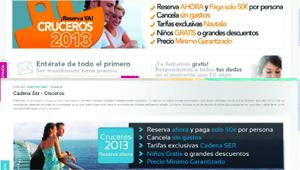 Webs de Nautalia Viajes y de Cadenaserviajes.es