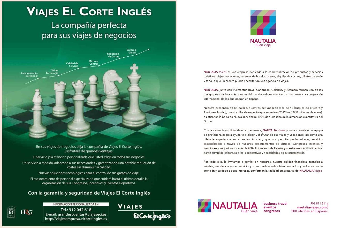 Super descuento bastante agradable precio atractivo Ofensiva de Viajes El Corte Inglés y Nautalia por el ...
