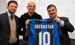 Giorgio Ricci, Esteban Cambiasso y Xisco Martínez. Iberostar patrocina Inter de Milan