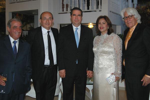 Pablo Piñero con el ministro de Turismo dominicano.