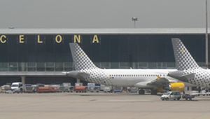 Vueling en el aeropuerto de Barcelona El Prat