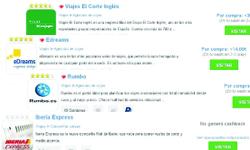 Cashback Iberia, Viajes El Corte Inglés, Rumbo, eDreams
