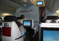 Cabina de Austrian Airlines