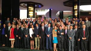 José Manuel Soria con los hoteleros de Mallorca