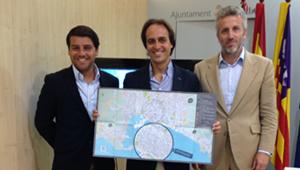 Nuevo mapa turístico de Palma, presentado por Álvaro Gijón, Pedro Homar y Javier Bonet