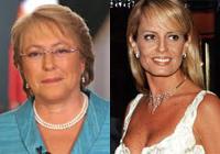 Michele Bachelet y Cecilia Bolocco