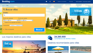 Booking.com reserva de villas