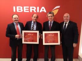 Premio Iberia UCAV-UCAVE, Victor Moneo, Rafael G. Planas, Martí Sarrate y Ricardo Palazuelos