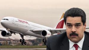 Caja atrapada de Iberia en Venezuela