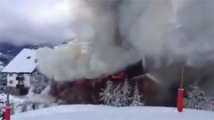 Incendio hotel Lodge Sierra Nevada enero 2014