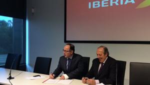 Acuerdo Iberia y Sepla con Luis Gallego y Justo Peral, febrero 2014