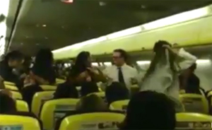 Pelea a bordo de Ryanair