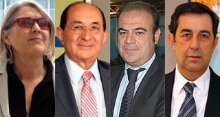 Carmen Riu, Pablo Piñero, Gabriel Escarrer y Javier Díaz