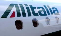 Presentazione del nuovo aereo Embraer dell'Alitalia