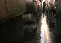Agua en un A380 de Qantas