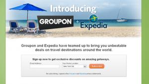 Groupon y Expedia