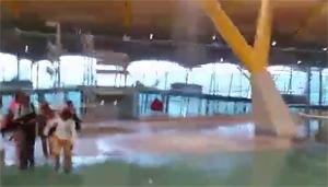 T4 Madrid Barajas inundada