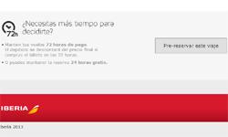 Iberia pre-reserva de 72 horas