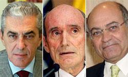 Mariano Pérez Claver, José Manuel Fernández Norniella y Gerardo Díaz Ferrán