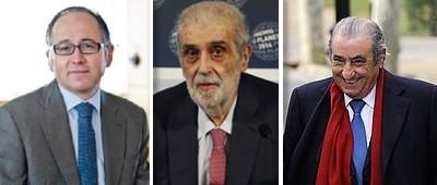 Luis Gallego, José Manuel Lara y Juan José Hidalgo