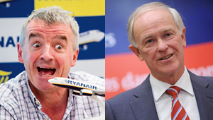 Michael O'Leary y Tim Clark