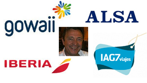 Julio Carrillo con Gowaii, Iberia, Alsa e IAG7 Viajes