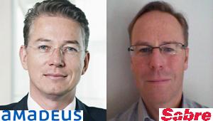 Paul de Villiers, de Amadeus España, y Douglas Green, de Sabre España y Portugal