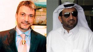 Jamal Iglesias y el jeque Al-Thani