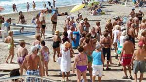 Jubilados-playa