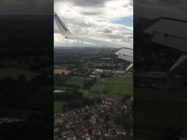 Brusco aterrizaje de un vuelo de Ryanair procedente de Fuerteventura