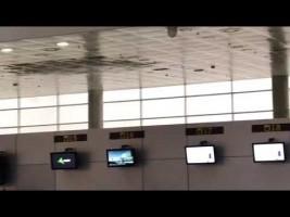 El techo del nuevo Aeropuerto de Almería se desploma por las lluvias