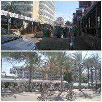 Vigilancia policial en Playa de Palma, el Arenal, y primera línea de playa