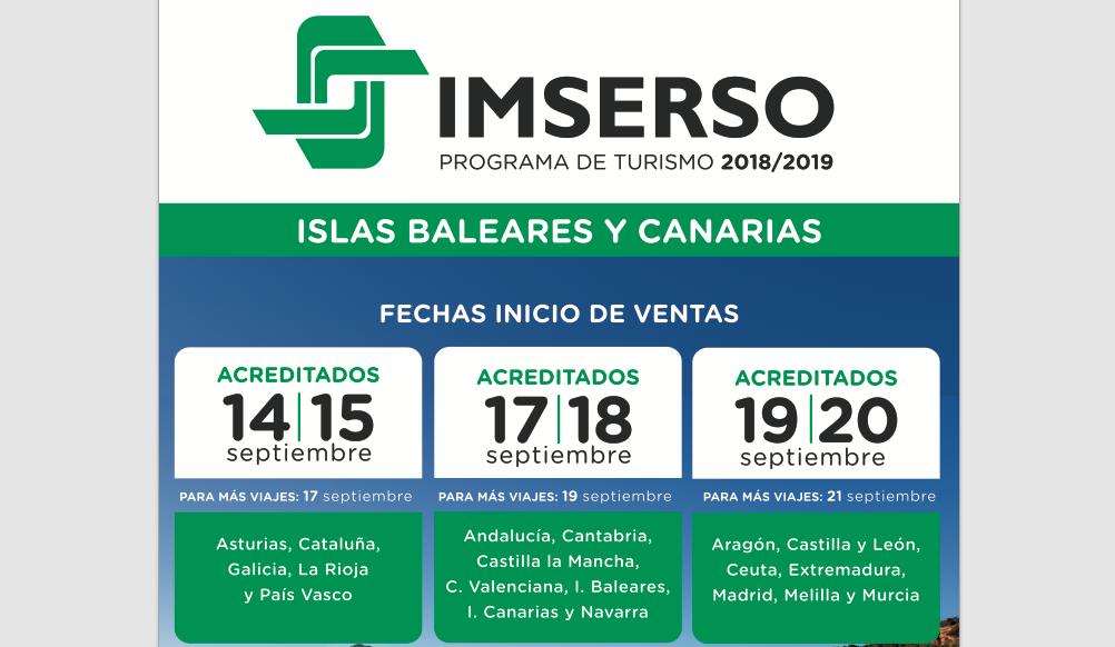 liberar información sobre precios baratass a juego en color El Imserso arranca la venta este 14 de septiembre | Noticias ...