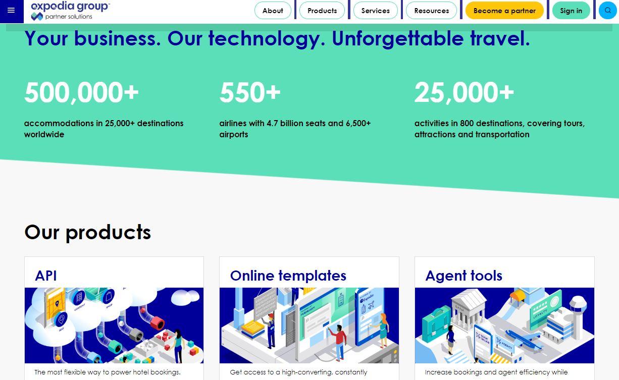 Expedia agrupa a sus B2b en Expedia Partner Solutions para